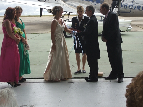 Essendon Airport Wedding Ceremony - Susan Roosenboom